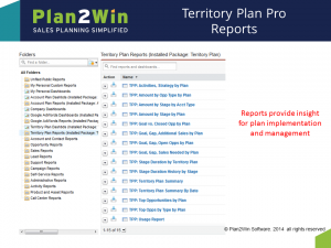 Salesforce.com apps for for your sales action planPlan to Win Software